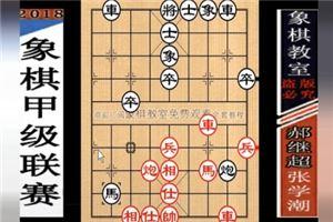 2018年全国象棋甲级联赛:张学潮先胜郝继超