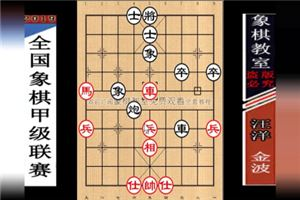 2019年全国象棋甲级联赛:金波先负汪洋