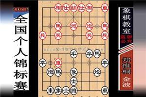 2018年全国象棋个人锦标赛:金波先负郑惟桐