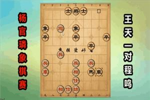 2018年杨官璘杯全国象棋公开赛:王天一先胜程鸣