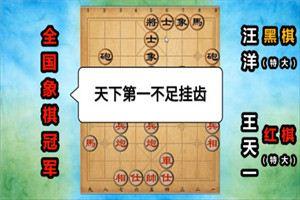 2013年全国象棋甲级联赛:王天一先负汪洋