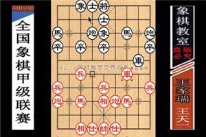2019年全国象棋甲级联赛:王天一先胜王家瑞