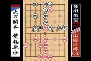 """""""职业棋手""""中局训练:大刀阔斧、双龙取水(32)"""