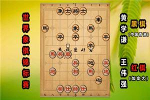2019年世界象棋锦标赛:王伟强先负黄学谦
