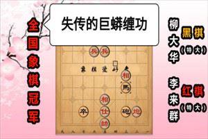 1989年五羊杯全国象棋冠军邀请赛:李来群先胜柳大华