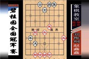2017年碧桂园杯全国象棋冠军赛:赵鑫鑫先和郑惟桐