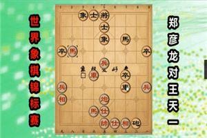 2017年世界象棋锦标赛:郑彦龙先和王天一