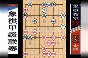 2018年全国象棋甲级联赛:金波先负王天一