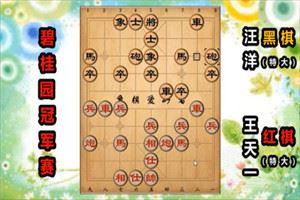 2019年碧桂园杯全国象棋冠军赛:王天一先胜汪洋
