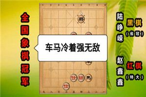 2002年全国象棋个人赛:赵鑫鑫先胜陆峥嵘