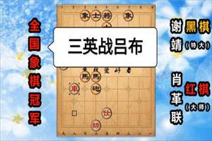 2003年全国象棋大师冠军赛:肖革联先负谢靖