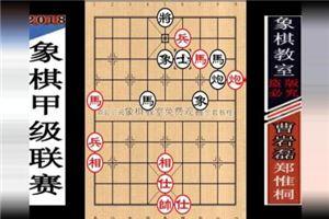 2018年全国象棋甲级联赛:郑惟桐先和曹岩磊