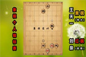 2019年全国象棋个人赛:刘泉先负王天一