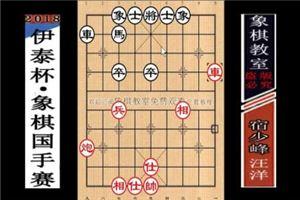 2018年伊泰杯象棋国手赛:汪洋先胜宿少峰
