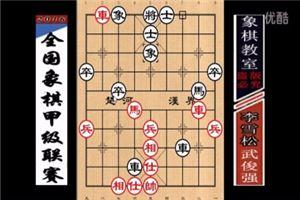 2016年全国象棋甲级联赛:武俊强先胜李雪松