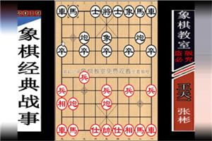 2019年全国象棋甲级联赛:张彬先负王天一