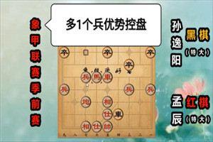 2020年全国象棋甲级联赛:孟辰先胜孙逸阳