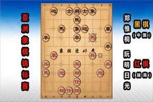 2019年亚洲象棋个人锦标赛:阮明日光先负郑惟桐