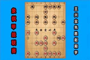 2017年全国象棋甲级联赛:王兴业先胜赵殿宇