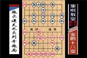 中国象棋古谱《金鹏十八变》炮火连天之大列手炮局