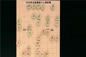 2016年全国象棋个人锦标赛:王天一先胜赵鑫鑫
