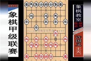 2018年全国象棋甲级联赛:王天一先胜许国义
