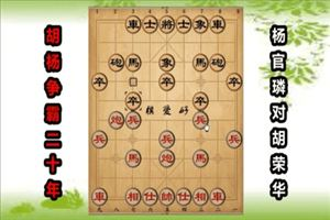 1963年广州上海象棋友谊赛:杨官璘先和胡荣华