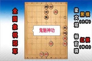 1978年全国象棋个人赛:杨官璘先胜梁文斌