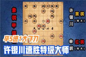 2020年全国象棋甲级联赛:申鹏先负许银川