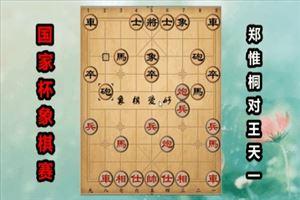 2018年国家杯象棋大赛:郑惟桐先负王天一