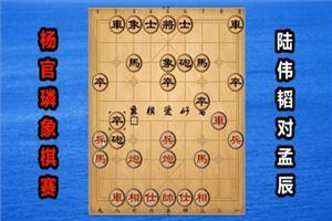 2018年杨官璘杯全国象棋公开赛:陆伟韬先负孟辰
