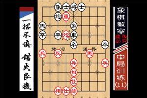 """""""职业棋手""""中局训练:一着不慎、错失良机(11)"""