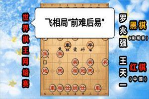 2020年世界象棋网络棋王赛:王天一先胜罗兆强