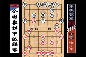 2016年全国象棋甲级联赛:柳大华先胜申鹏