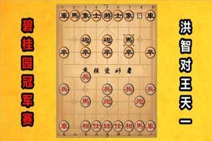 2018年碧桂园杯全国象棋冠军赛:洪智先负王天一