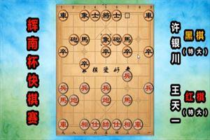 2019年辉南龙湾杯全国象棋精英快棋赛:王天一先和许银川