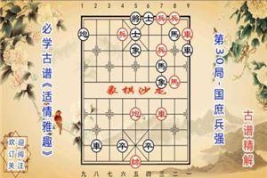 象棋古谱赏析《适情雅趣》第30局:国庶兵强