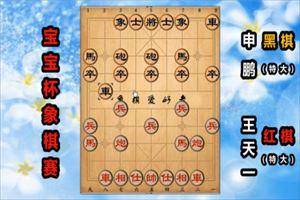 2019年宝宝杯象棋大师公开邀请赛:王天一先胜申鹏
