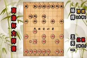 2019年高港杯象棋青年大师赛:王天一先胜杨辉