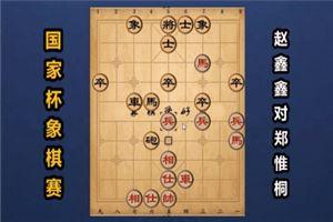 2018年国家杯象棋大赛:赵鑫鑫先和郑惟桐