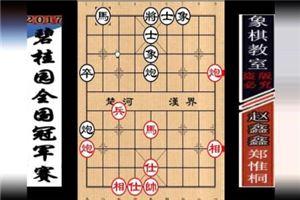 2017年碧桂园杯全国象棋冠军赛:郑惟桐先和赵鑫鑫