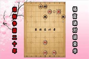 1965年全国象棋个人赛:杨官璘先胜胡荣华