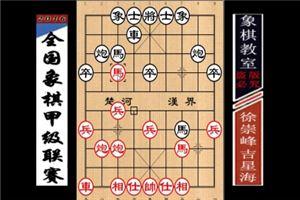 2016年全国象棋甲级联赛:吉星海先负徐崇峰