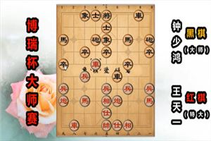 2019年博瑞杯全国象棋大师公开赛:王天一先胜钟少鸿