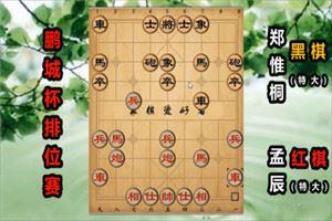 2019年鹏城杯全国象棋排位赛:孟辰先胜郑惟桐