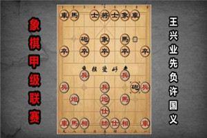 2017年全国象棋甲级联赛:王兴业先负许国义