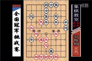 2016年飞神杯全国象棋冠军挑战赛:王天一先胜郑惟桐
