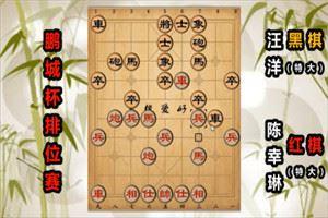 2019年鹏城杯全国象棋排位赛:陈幸琳先负汪洋